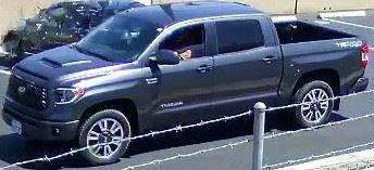 A body was found in the backseat of the pickup truck driven by murder suspect Abdulaziz Alubidy. (Courtesy of Anaheim Police Department)
