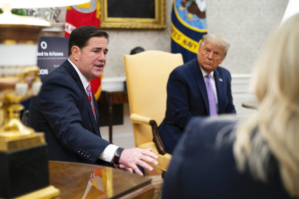 President Trump Meets With Arizona Governor Doug Ducey In The Oval Office