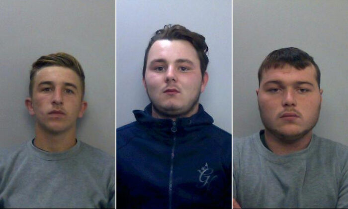 (L-R) Jessie Cole, Albert Bowers, and Henry Long, who were convicted of killing Police Constable Andrew Harper in Berkshire, United Kingdom, on Aug. 15, 2019. (Thames Valley Police)