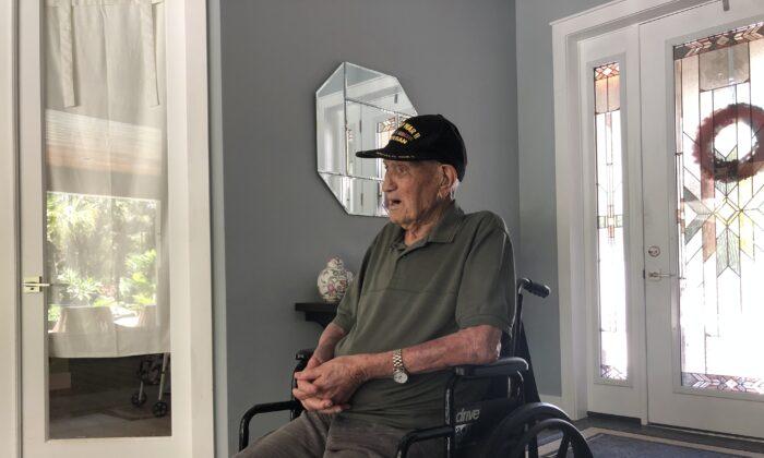 Louis DeBiasio is a World War II Navy veteran. He turns 105 on Monday, Aug. 10, 2020. (Courtesy of Michael DeBiasio)