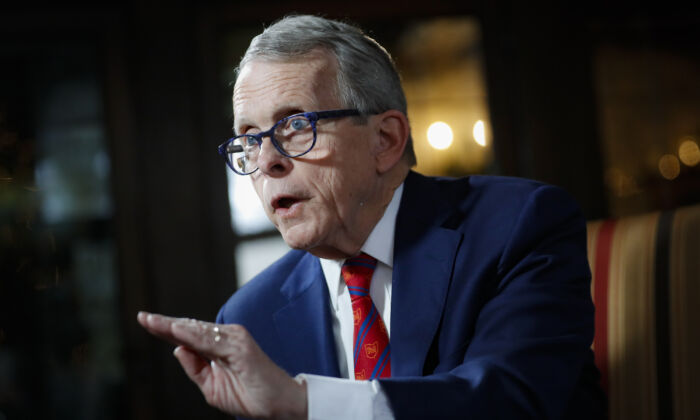 Ohio Gov. Mike DeWine in Bexley, Ohio, on Aug. 6, 2020. (Jay LaPrete/AP Photo)