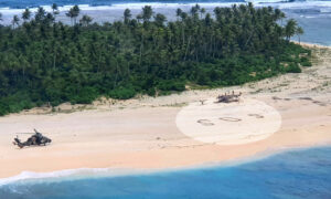 3 Men on Deserted Pacific Island Rescued After Writing SOS in Sand