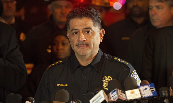 Milwaukee Police Chief Alfonso Morales speaks to reporters in Milwaukee, Wis, on Feb. 26, 2020. (Nuccio DiNuzzo/Getty Images)