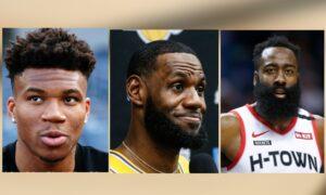 The NBA MVP Finalists: Antetokounmpo, James, and Harden