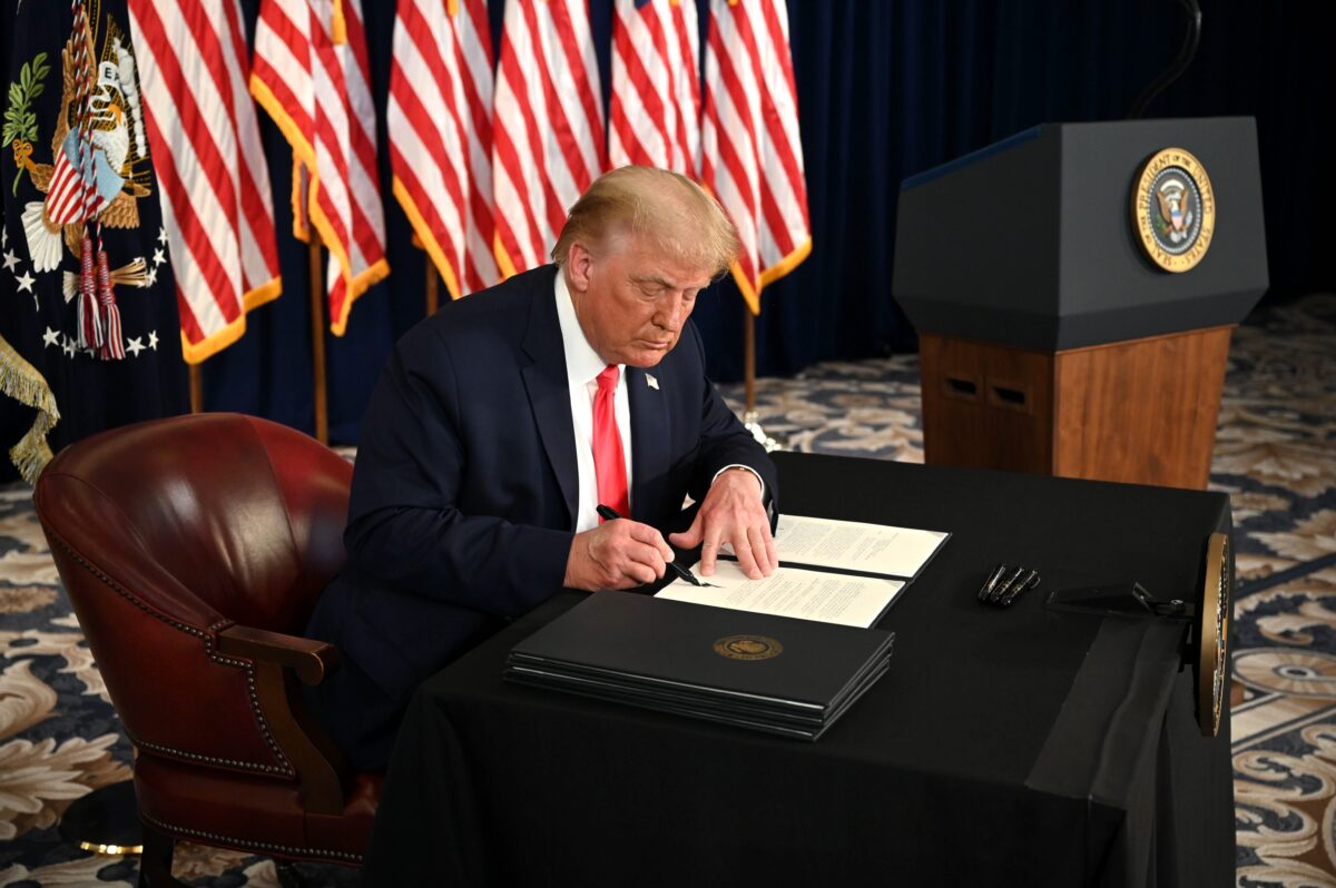 Trump signs executive orders