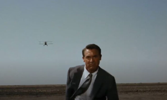 "Cary Grant in one of the most famous scenes in cinematic history, in ""North by Northwest."" (Metro-Goldwyn-Mayer)"
