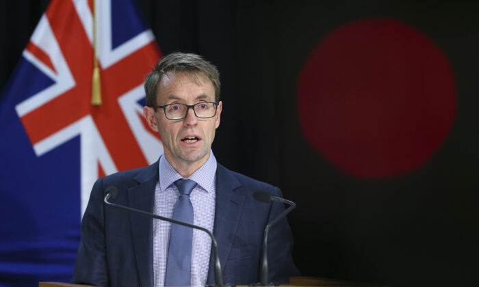 New Zealand's Director-General of Health Dr. Ashley Bloomfield speaks to media during a press conference at Parliament in Wellington, New Zealand, on Aug. 6, 2020. (Hagen Hopkins/Getty Images)
