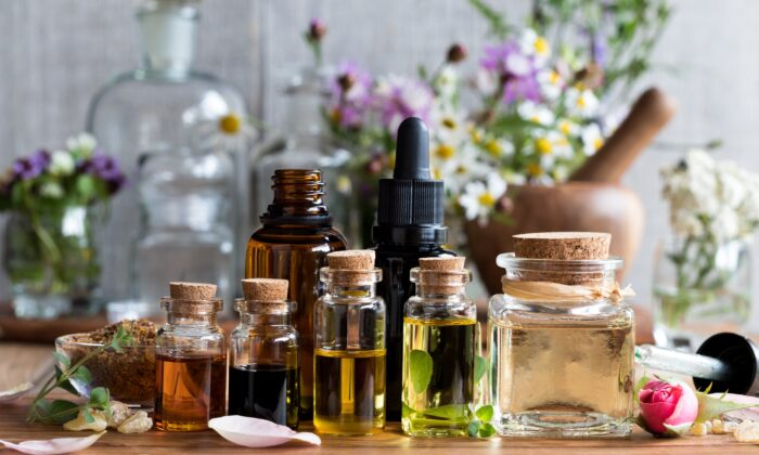 There are many ways to take herbs, including teas, tinctures, essential oils, and extracts. (Madeleine Steinbach/Shutterstock)
