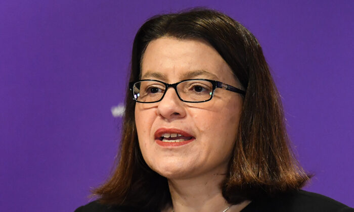 Victorian Health Minister Jenny Mikakos in Melbourne, Australia on Aug. 10, 2020. (Quinn Rooney/Getty Images)