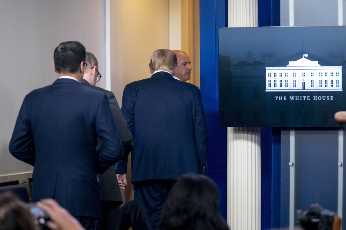Trump Abruptly Escorted From Briefing Following Shooting Outside White House