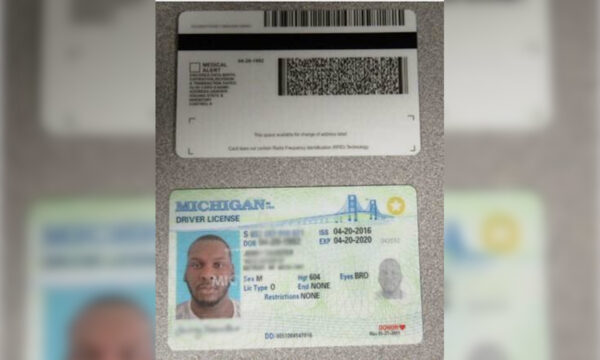 A fraudulent driver's license seized by U.S. Customs and Border Protection