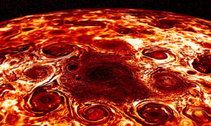 NASA Shares Incredible Image of Jupiter's Polar Cyclones That Looks Like 'Pepperoni Pizza'