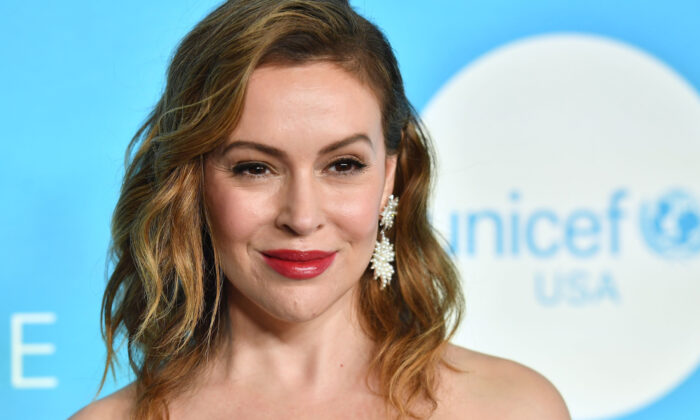 Actress Alyssa Milano attends the 14th Annual UNICEF Snowflake Ball in New York on Nov. 27, 2018. (Angela Weiss/AFP via Getty Images)