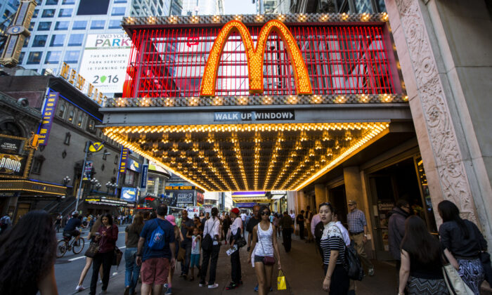 McDonald's in Times Square, New York, on Aug. 23, 2016. (Samira Bouaou/Epoch Times)