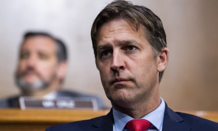 Sen. Ben Sasse (R-Neb.) during a hearing in Washington on June 16, 2020. (Tom Williams/Pool/Getty Images)