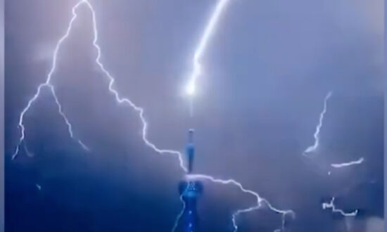 Bizarre Lightning In China Strikes Oriental Pearl Tower; CCP Puts Missile Launches In Range of Taiwan