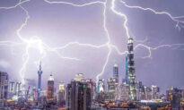 Shanghai's Oriental Pearl TV Tower Struck by Lightning