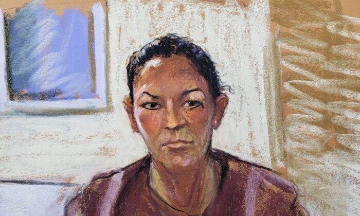Ghislaine Maxwell appears via video link during her arraignment hearing where she was denied bail for her role aiding Jeffrey Epstein to recruit and eventually abuse minor girls, in Manhattan Federal Court, New York, on July 14, 2020 in this courtroom sketch. (Jane Rosenberg/File Photo via Reuters)