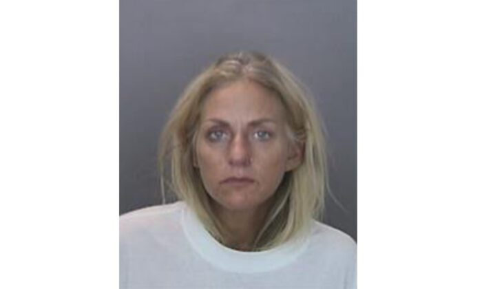 Suspect Courtney Pandolfi, who allegedly struck and killed a 23-year-old pregnant woman with her vehicle, is seen in a police photograph in Anaheim, Calif., on Aug. 11, 2020. (Courtesy of Anaheim Police Department)