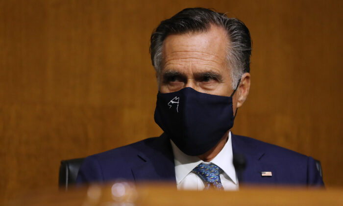 Sen. Mitt Romney (R-Utah) in Washington on Aug. 4, 2020. (Chip Somodevilla/Getty Images)
