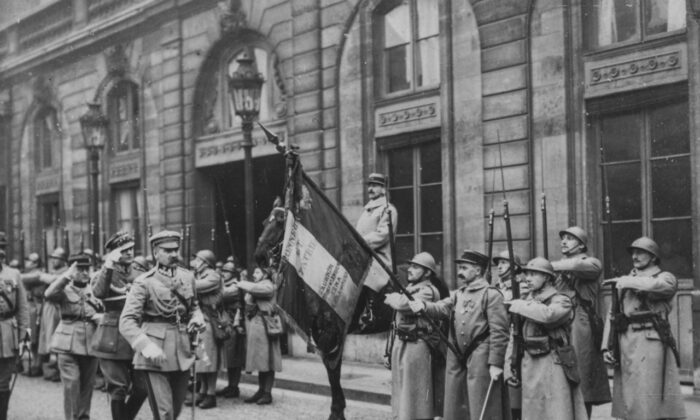 Marshal Jozef Pilsudski, Polish Chief of State, leading troops through the streets of Paris, 1921. (Kadel & Herbert News Service/Hulton Archive/Getty Images)