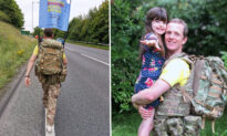Army Major Completes 700-Mile Trek Barefoot to Raise Funds for Daughter's Treatment