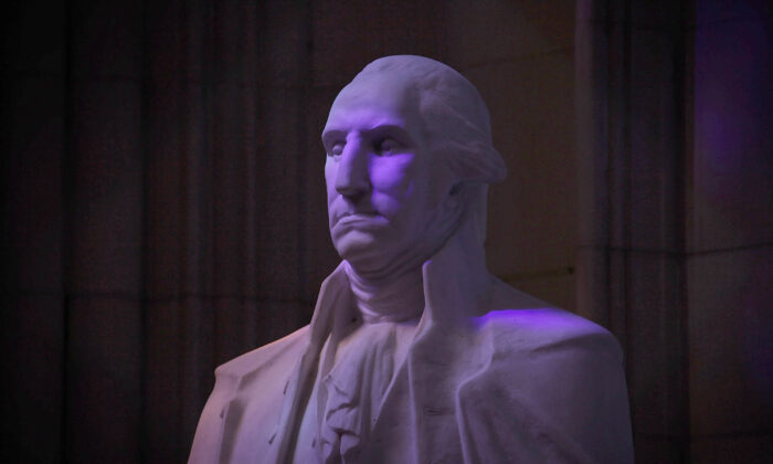 A statue of George Washington is seen in the National Cathedral in Washington in a 2015 file photograph. (Alex Wong/Getty Images)