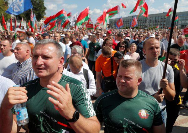 Belarus Lukashenko rally