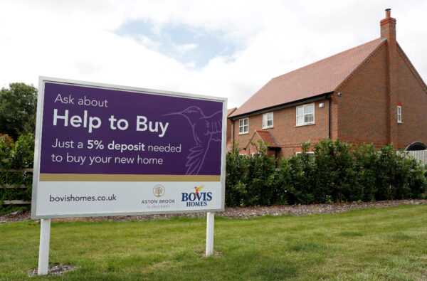 Help to Buy sign UK property