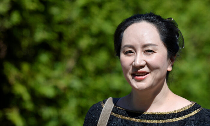 Huawei Technologies Chief Financial Officer Meng Wanzhou leaves her home to attend a court hearing in Vancouver, on May 27, 2020. (Reuters/Jennifer Gauthier/File Photo)