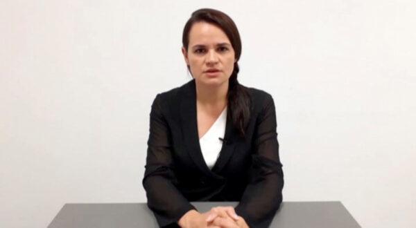 Belarusian opposition politician Sviatlana Tsikhanouskaya