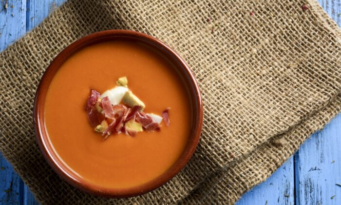 Salmorejo has a creamy red look and a body that jiggles like sea foam. (Nito/Shutterstock)