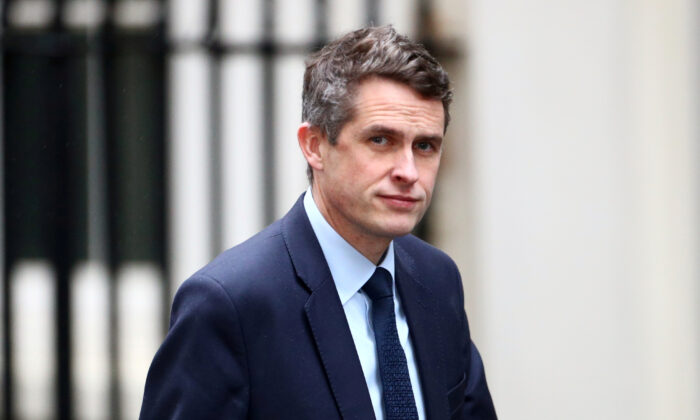 A file photo shows Britain's Education Secretary Gavin Williamson seen at Downing Street in London, on Dec.17, 2019. (Reuters/Hannah McKay)