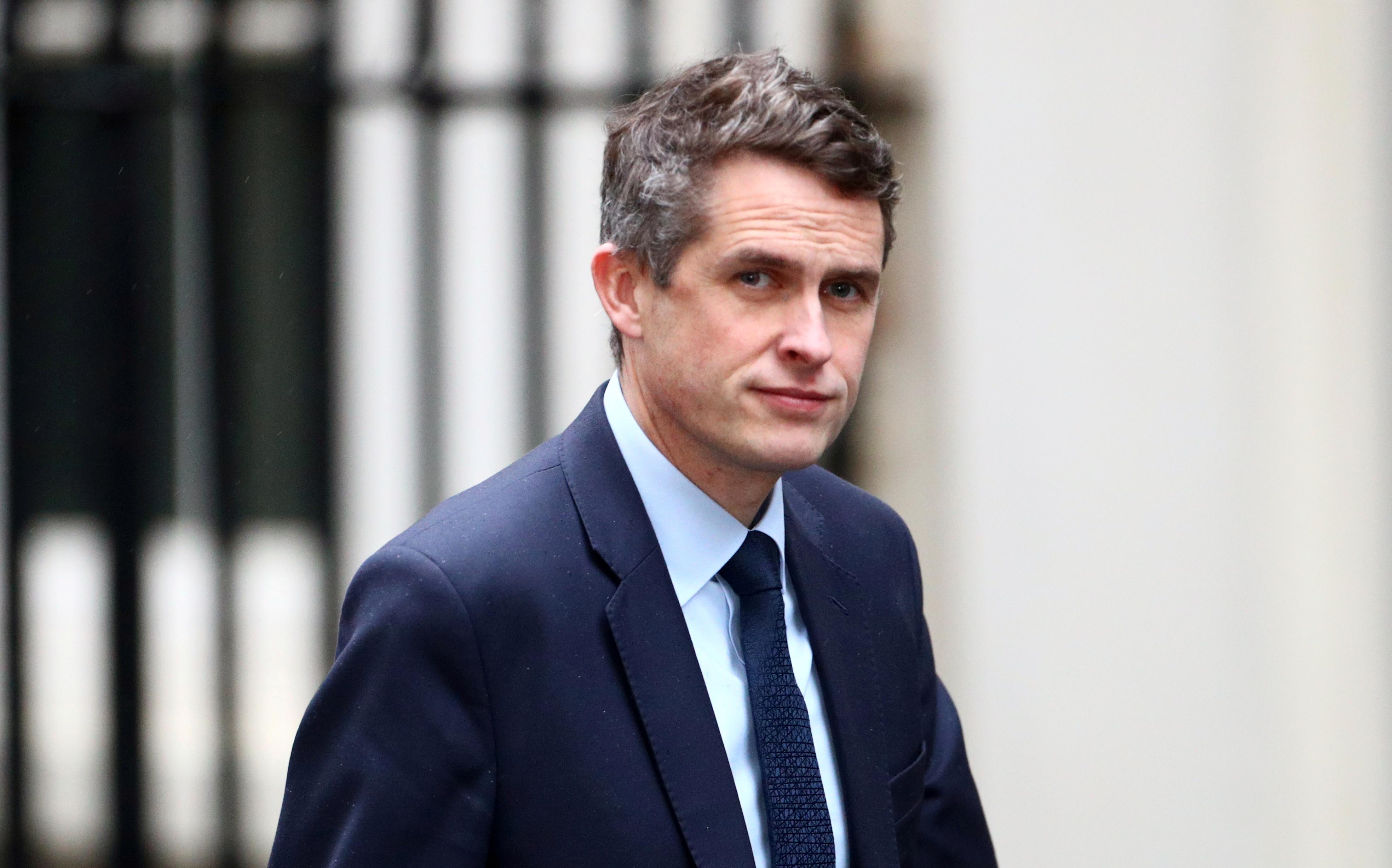 Britain's Education Secretary Gavin Williamson seen at Downing Street in London