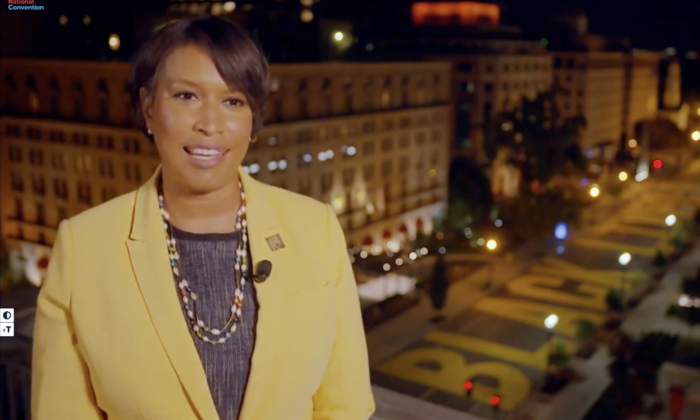 In this screenshot from the DNCC's livestream of the 2020 Democratic National Convention, Washington, D.C. Mayor Muriel Bowser addresses the virtual convention on Aug. 17, 2020. (DNCC via Getty Images)