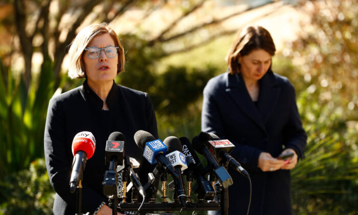 NSW Chief Health Officer Dr Kerry Chant speaks during a press conference at Parliament House on Aug. 5, 2020 in Sydney, Australia. (Ryan Pierse/Getty Images)