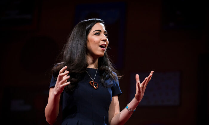 "Esfahani Smith delivered a TED talk, ""There's More to Life Than Being Happy,"" that has been viewed more than 9 million times. (Bret Hartman /TED)"