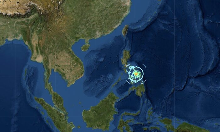 6.7 Magnitude earthquake hits central Philippines on Aug. 18, 2020. (Screenshot/USGS)
