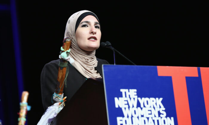 Honoree Linda Sarsour speaks onstage during the 30th Anniversary Celebrating Women Breakfast at Marriott Marquis Hotel in New York City, on May 11, 2017. (Monica Schipper/Getty Images for The New York Women's Foundation )