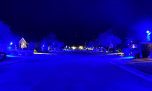 Nevada Neighborhood Lights Up in Blue to Show Support for Police