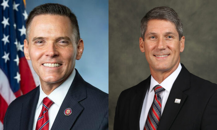 (L) Rep. Ross Spano (R-Fla.) and Lakeland city commissioner Scott Franklin. (Rep. Ross Spano's office; city of Lakeland)