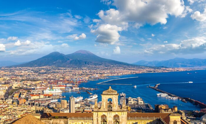 Naples, with Mount Vesuvius in the background. (Shutterstock)