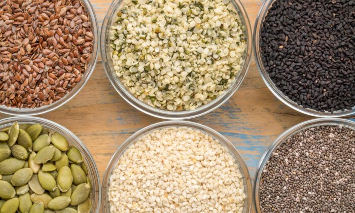 Seeds are nutrient dense and delicious. They make a great snack and can be added to almost anything to add vitamins, minerals, and flavor.  (marekuliasz/Shutterstock)