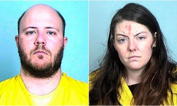 Brett and Sarah Hallow (Elk River Police Department and Sherburne County sheriff's office via AP)