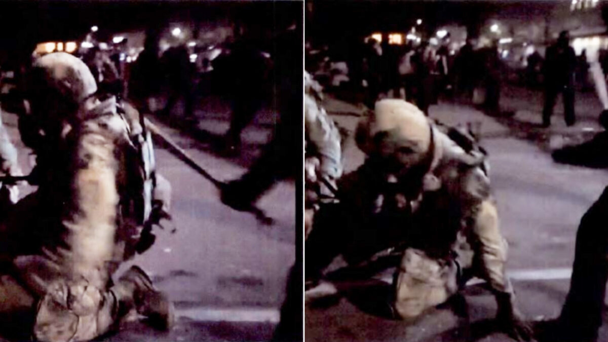 Horton strikes a deputy U.S. Marshal with bat