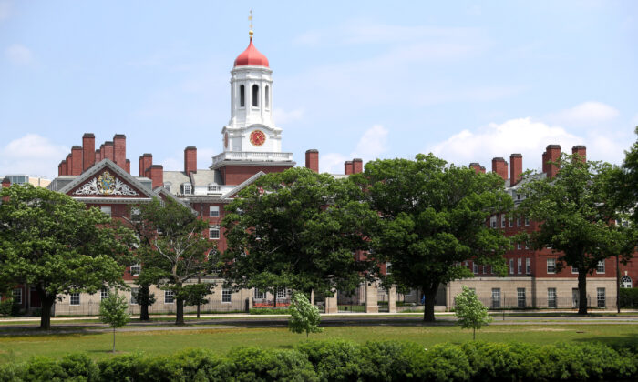 A view of the campus of Harvard University in Cambridge, Mass., on July 8, 2020. (Maddie Meyer/Getty Images)