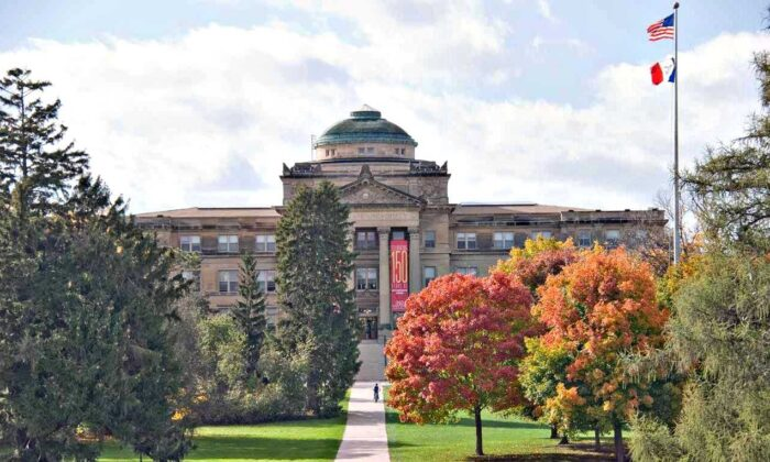 The Beardshear Hall at the Iowa State University campus is seen on Oct. 19, 2007. (SD Dirk/Wikimedia)