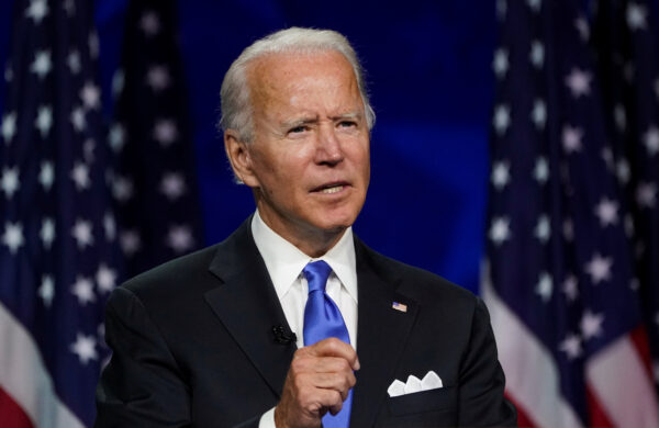 Former Vice President Joe Biden accepts the 2020 Democratic presidential nomination