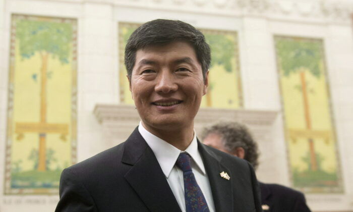 Central Tibetan Administration President Dr Lobsang Sangay waits to appear at the Subcommittee on International Human Rights of the Standing Committee on Foreign Affairs and International Development in Ottawa on Feb. 26, 2013. (Adrian Wyld/The Canadian Press)