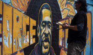 George Floyd Mural Near Site of Death in Minneapolis Defaced